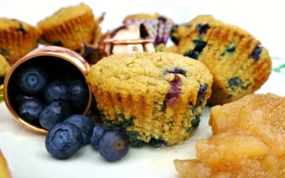 Apple Blueberry Paleo Muffins