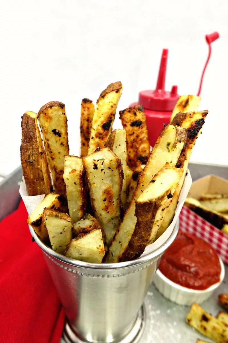 Seasoned Oven Baked Crispy French Fries - Sabrina's ...