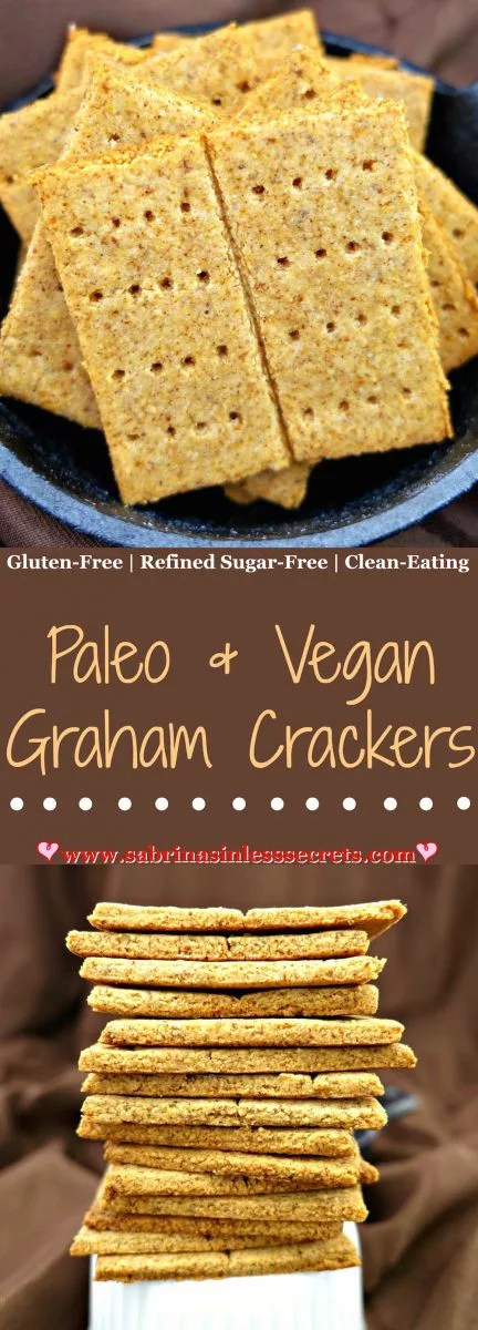These Paleo and Vegan Graham Crackers are perfectly crisp, yet subtly soft and lightly sweetened with maple syrup. They make an excellent snack, especially for your kids' lunchboxes. You can feel good about eating these yummy squares anytime of the day, because they're Paleo, vegan, gluten-free, dairy-free, refined sugar-free, grain-free, and clean-eating!