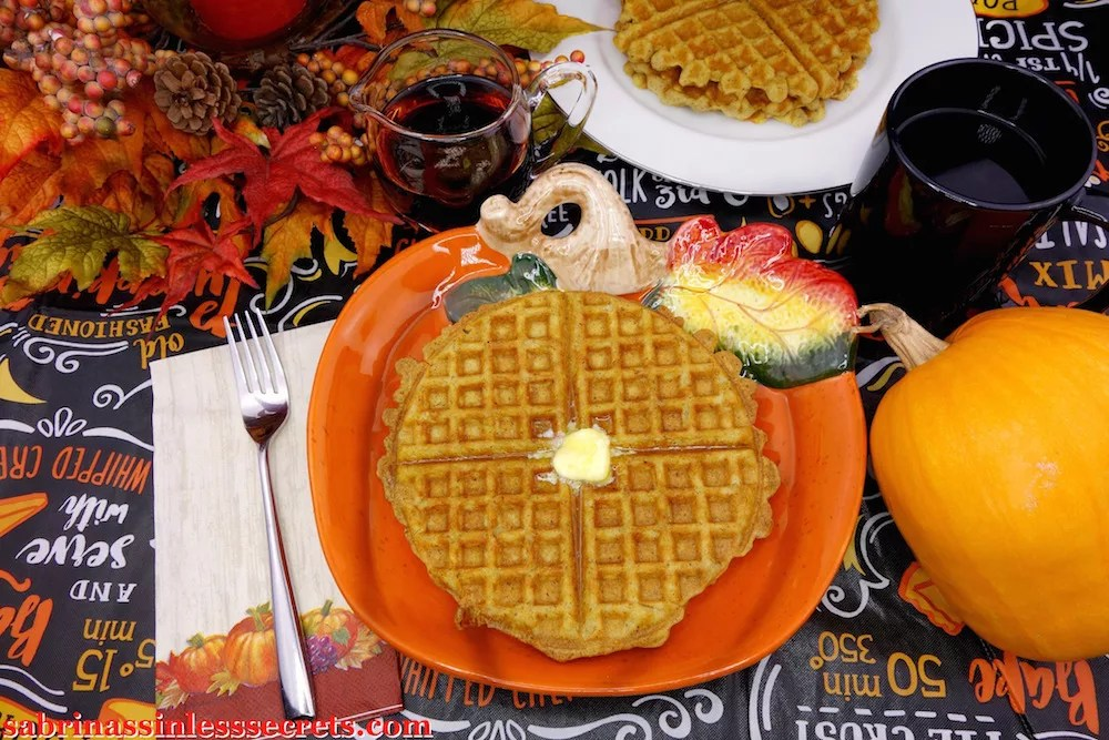 These Paleo pumpkin waffles are perfectly crispy on the outside and light and fluffy on the inside! They're everything—and more—that you'd ever want in waffle! The flavors of pumpkin and fall really put them over the top. What makes these pumpkin waffles even better is that they're naturally gluten-free, sugar-free, dairy-free, oil-free, and have a vegan option!