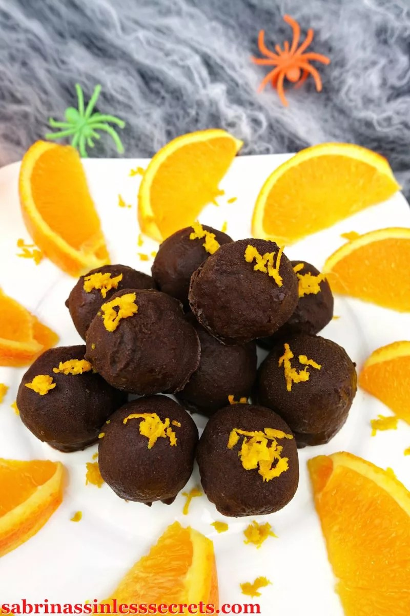 Bite-sized truffles with soft and silky insides and crunchy dark chocolate shells on the outside are always a delight, but when we're talking about these Dark Chocolate Orange Cream Paleo Truffles it brings truffles to another level! Your sinful desires are over, because you can now have sinless and delicious truffles that are Paleo, gluten-free, refined sugar-free, vegan, dairy-free, grain-free, clean-eating, and super easy to make!