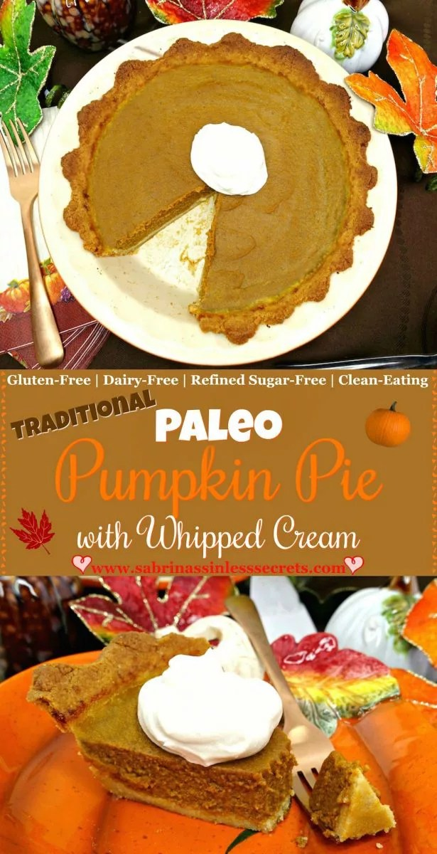 Smooth and creamy with a pumpkin-spiced, sweet flavor, this Traditional Paleo Pumpkin Pie will have you in fall heaven! Not only is this recipe easy to put together, but you won't be able to tell it's Paleo, gluten-free, dairy-free, refined sugar-free, or clean-eating by it's mouthwateringly good taste!