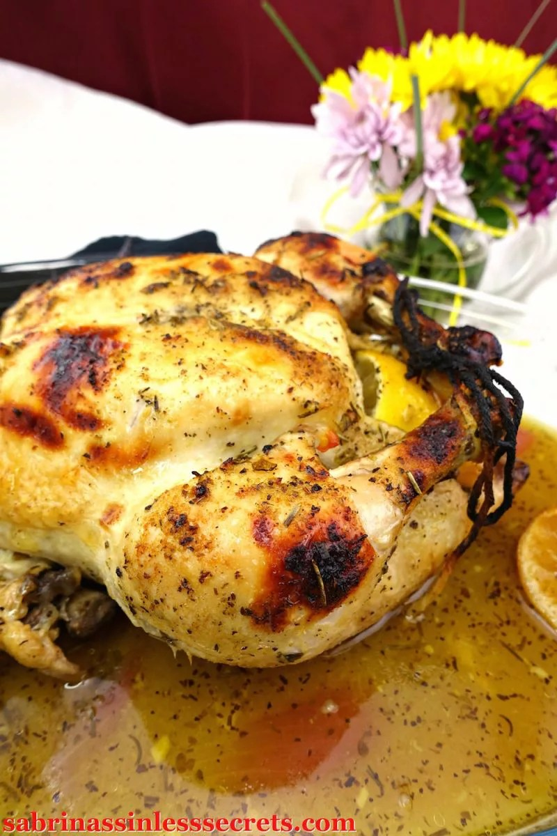 This Lemon Lime Herb Paleo Oven Roasted Chicken is the perfect dinner for a special occasion or for a night in. Fresh herbs and lemon and lime juices come together to make a tender, juicy, and deliciously flavorful dish the whole family will enjoy! Plus, it's Paleo, gluten-free, grain-free, dairy-free, refined sugar-free, and clean-eating!