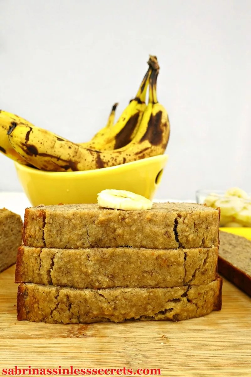 This Paleo Banana Bread is moist, soft, sweet, and full of banana flavor! You can enjoy a slice (or two) for a satisfying and yummy breakfast or as a snack/dessert. It's entirely unbelievable that it's sinless Paleo, gluten-free, dairy-free, refined sugar-free, clean-eating, and there's only one tablespoon of oil in the whole recipe. Plus, it's super easy to make!