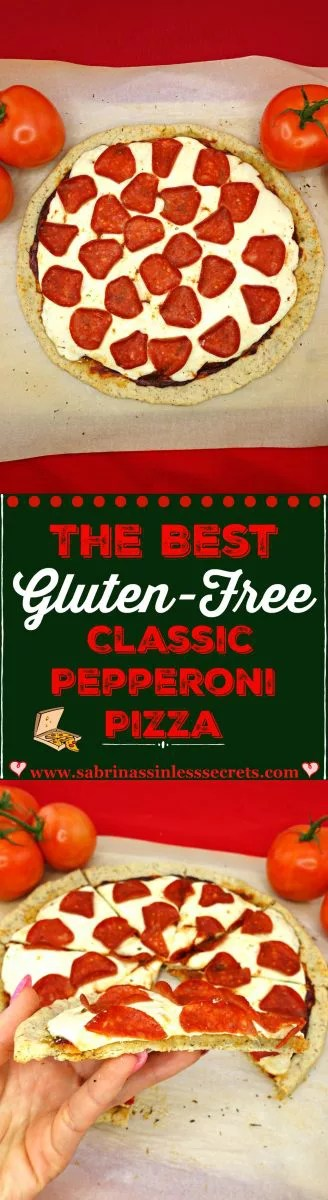 Say goodbye to the unhealthy pepperoni pizza you're used to because The Best Gluten Free Classic Pepperoni Pizza is in town! It has a Paleo and vegan thin and crispy crust, smeared with my Paleo and vegan easy pizza sauce and topped with fresh mozzarella cheese and pepperoni! Not only will everyone not believe it's gluten-free, but they'll also be in shock that it took the spot of their favorite pepperoni pizza!