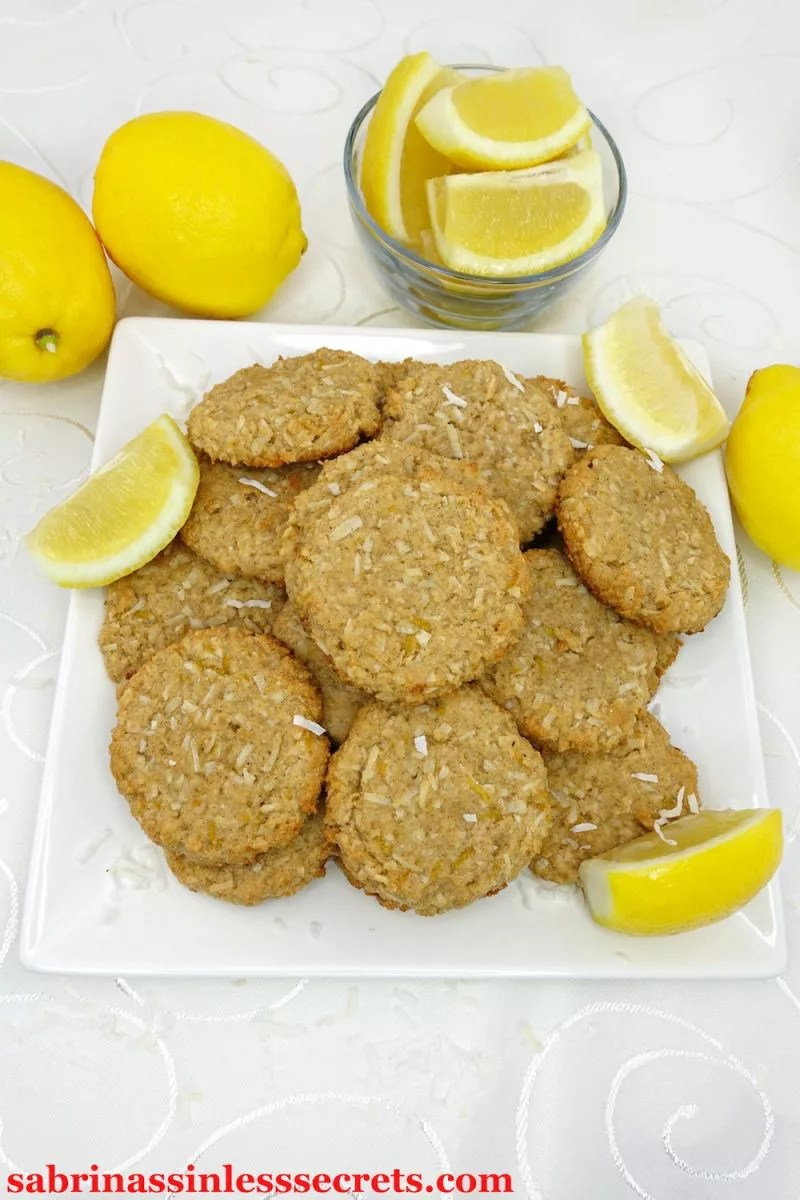 These Paleo and Vegan Chewy Lemon Coconut Cookies are so fitting for spring and summer! The flavors of lemon and coconut form together to make a chewy bite of goodness! These cookies are gluten-free, dairy-free, egg-free, refined sugar-free, grain-free, clean-eating, and so easy to make!
