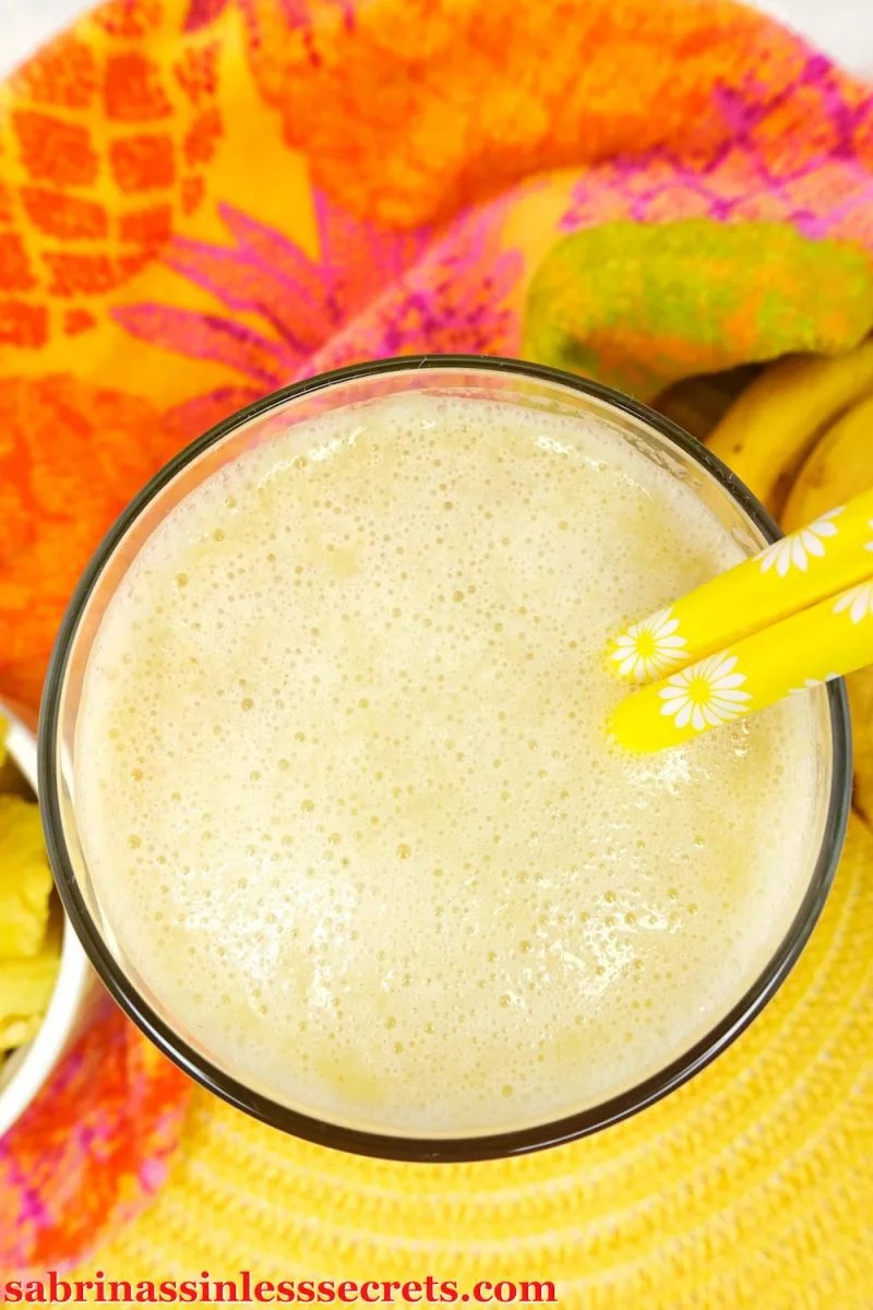 This thick and smooth Paleo and Vegan 5 Ingredient Pineapple Banana Smoothie is the perfect refreshment for a warm summer day! Not only is it sweet, refreshing, and super tasty, but it's also completely sinless, Paleo, vegan, gluten-free, dairy-free, refined sugar-free, clean-eating, and takes only minutes to make!