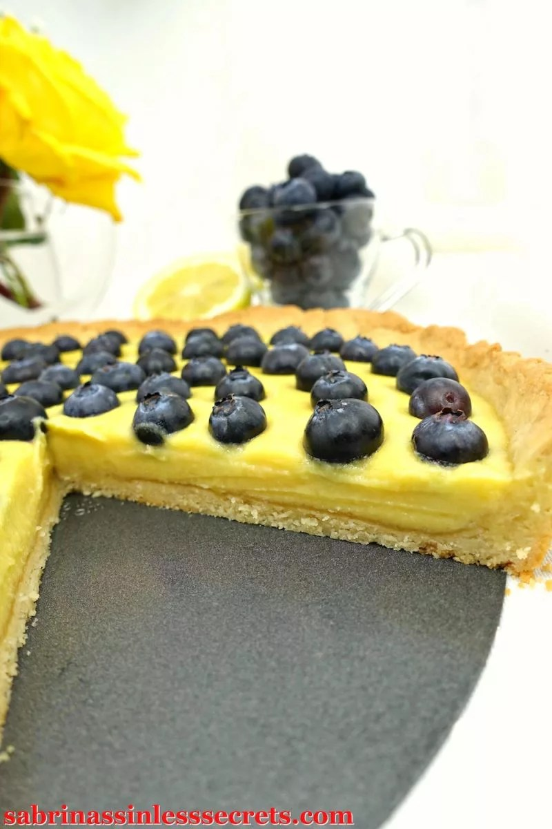 This Paleo Lemon Blueberry Tart is nothing less than a showstopper. With a light and fluffy shortbread crust, a sweet and tart custard filling, and fresh, plump blueberries to go on top, you can't go wrong. This tart tastes so sinfully delicious you won't feel like you're eating Paleo, gluten-free, refined sugar-free, dairy-free, or clean-eating whatsoever!