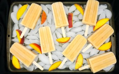 Paleo and Vegan Peach Cream Popsicles