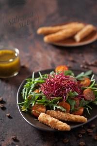Ruccola Salat an Kaffee Vinaigrette