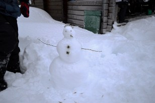 The finished snowman!