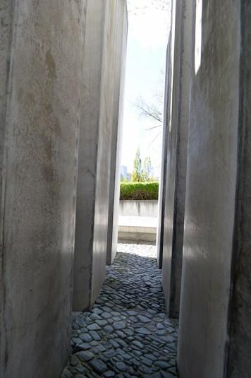 The outside, uneven exhibit
