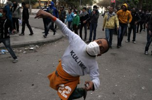 Young kids had their share of violence during this year, Clashes near tahrir square.
