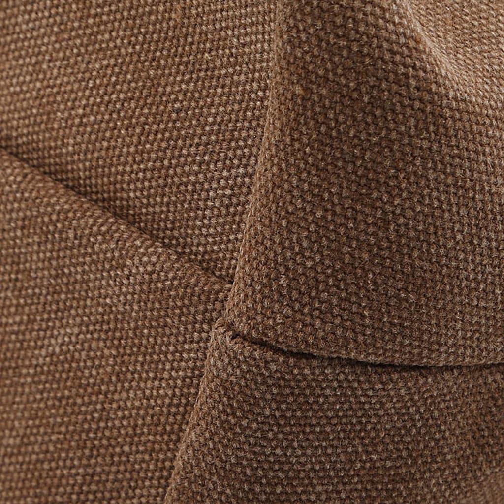 Détail de la toile marron du sac besace pour homme.