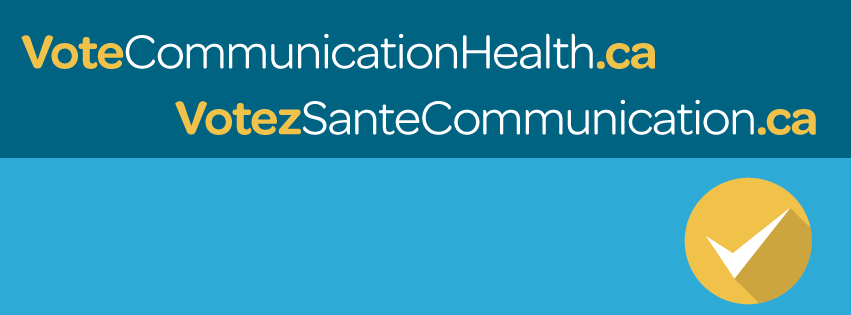 Vote Communication Health  SpeechLanguage  Audiology Canada