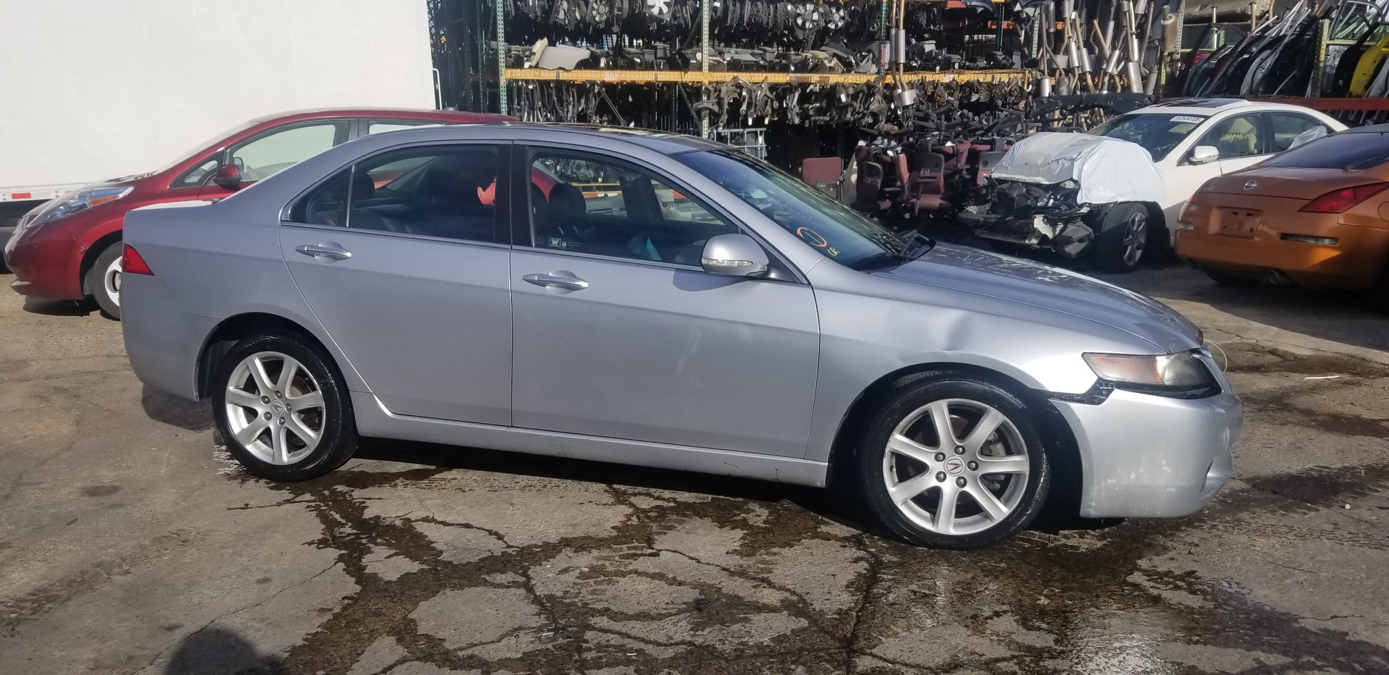 hight resolution of year 2004 make acura model tsx vin jh4cl96984c031238 odometer 0 engine 2 4 liter 4 cylinder transmission automatic color exterior silver