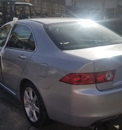 year 2004 make acura model tsx vin jh4cl96984c031238 odometer 0 engine 2 4 liter 4 cylinder transmission automatic color exterior silver [ 4032 x 1960 Pixel ]