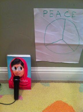 I Am Malala gives an inspirational speech at a book peace rally.