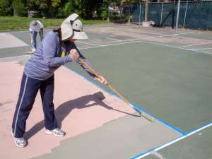 Painting the court