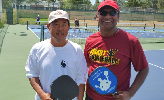 "Me with Prem Cardot the ""Pickleball Guru"""