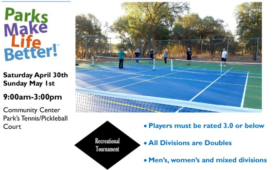 Rio Linda Pickleball Tournament Flyer