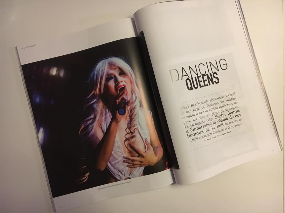 Reportage Queens Cabaret ladyboys in Trajectoire Magazine