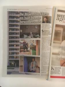 Artikel Gazet van Antwerpen 6 oktober Groeten uit de Braemblokken