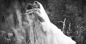 fotoshoot bruidspaar tijdens huwelijk