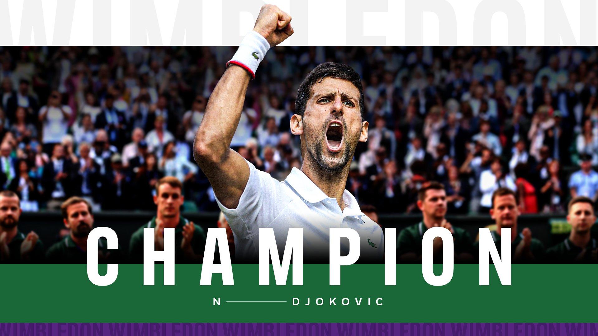 Wimbledon: नोवाक जोकोविच ने रचा इतिहास, 20वां ग्रैंडस्लैम जीत की नडाल और फेडरर की बराबरी