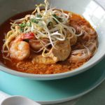 Malaysian Curry Laksa With Chicken And Prawns Cooking Classes Auckland Sachie S Kitchen Team Building Auckland