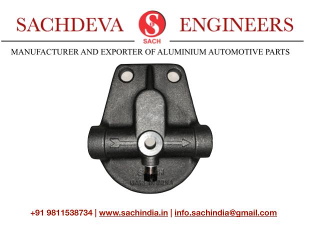 Fuel Filter Plate Head Sachdeva engineers FILTER HEAD Lomabardini Engine 450 and 510