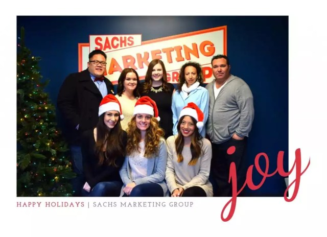 Happy Holidays from Sachs Marketing Group!   Sachs Marketing Group