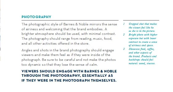 Barnes and Noble Photography Specifications