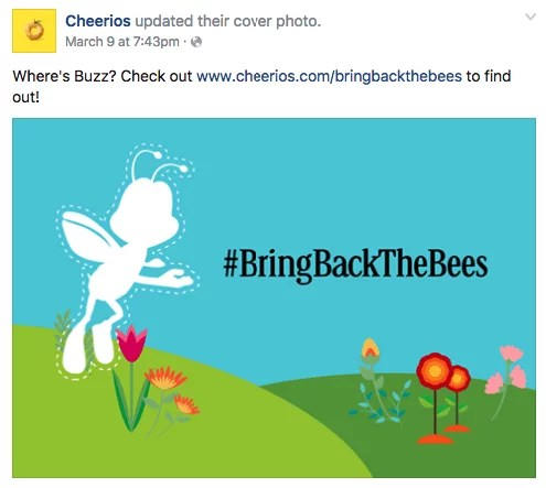 Cheerios Facebook post