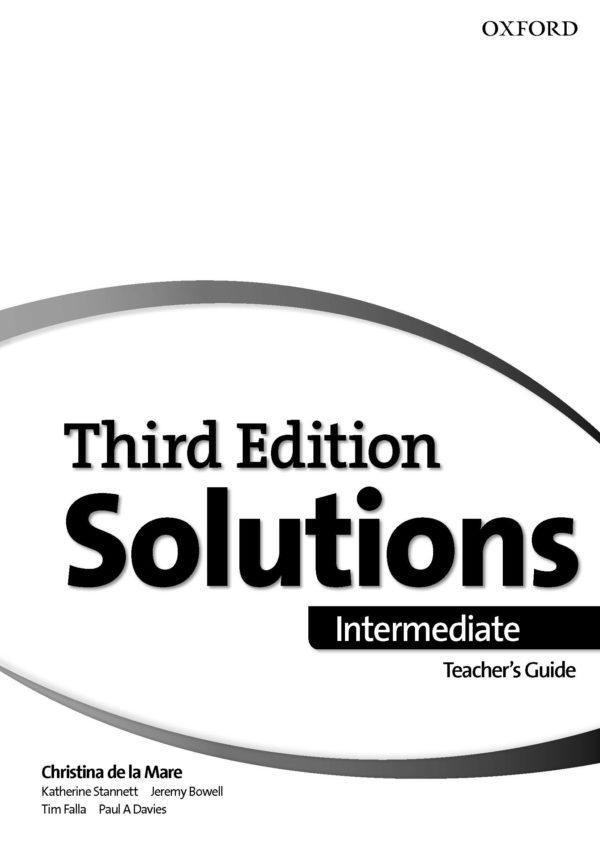 [Sách] Oxford Solutions Intermediate Third Edition Teacher