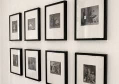 Dejan Atanackovic, The Archive, 8 photomontage works (inkjetc prints on Canson paper, about 20x20cm each). The work is based on the archive material of the Museum of Anthropology in Florence.