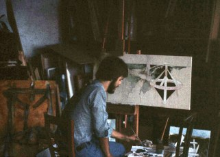 Jay Tracy Working in the Studio (Pian di Sco)