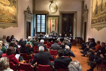 "Presentation of Angelo Pontecorboli exhibition ""liber"" at the Regione Toscana, Florence"