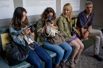 SACI MFA in Photography students and instructor in Milan