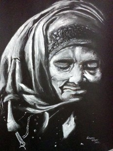 yogesh sehgal painting of old lady_20140907185348832
