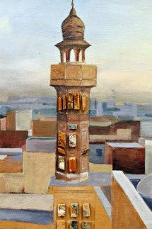 "Amaan Khalid Aslam, ""Murjhaati Eentain, The Withering Bricks,"" (detail) oil on linen, ceramics, 2015-2016"