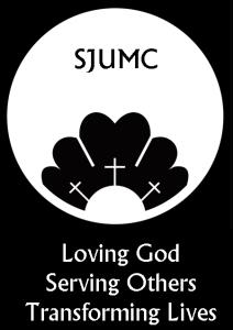 SJUMC logo and tag line