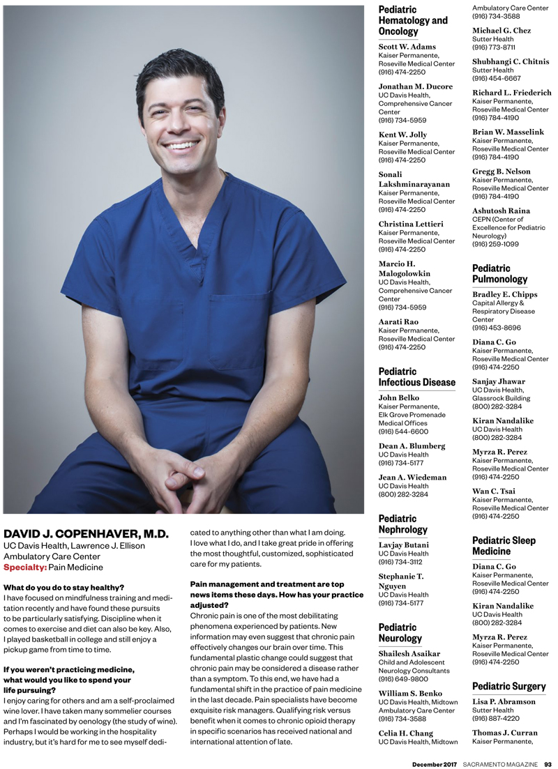 Top Doctors List - Sacramento Magazine