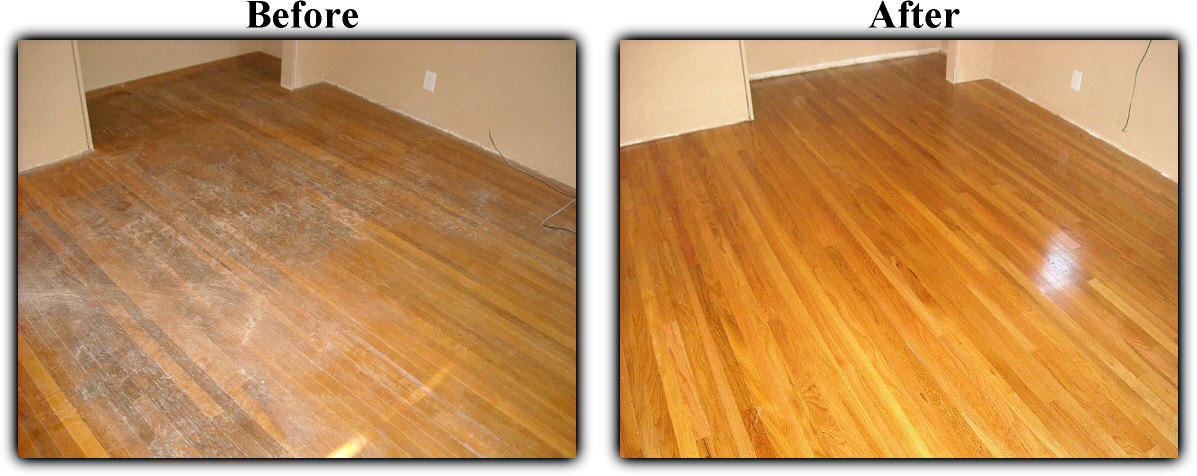 Before and after hardwood floor refinishing  saving