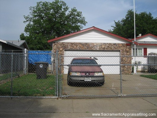 example of chain link fence