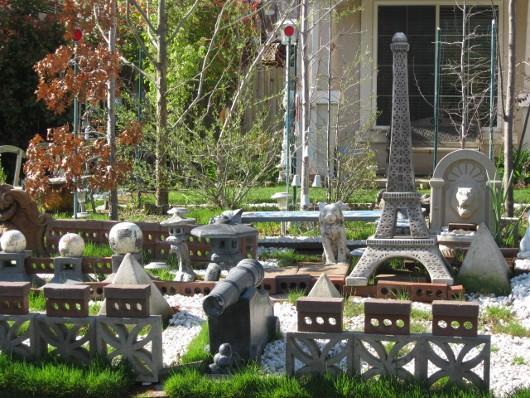 Battle scene in front yard in West Sacramento