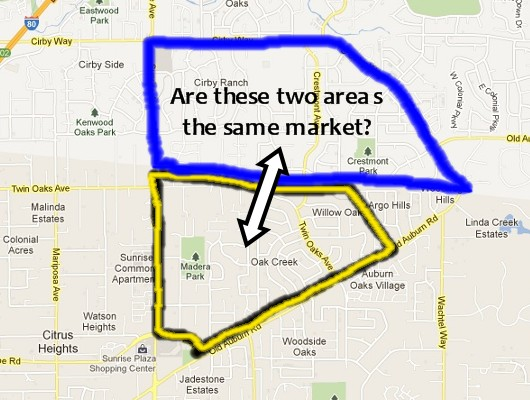 Citrus Heights vs Roseville Map - Sacramento Appraisal Blog