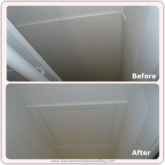 FHA before and after attic access by appraiser - Sacramento Appraisal Blog