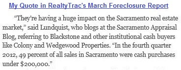 My quote in RealtyTrac Foreclosure Report March 2013