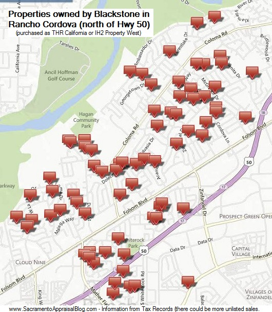 Properties owned by Blackstone in Rancho Cordova